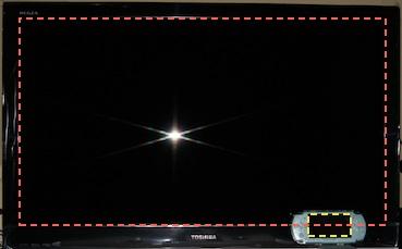 東芝レグザ37Z9000とPSP-2000を並べてみた