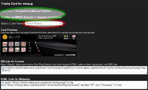 ps3trophycard.comトロフィーカードのテーマ選択画面
