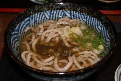 宮崎県日南市のびびんやで食べた魚うどん