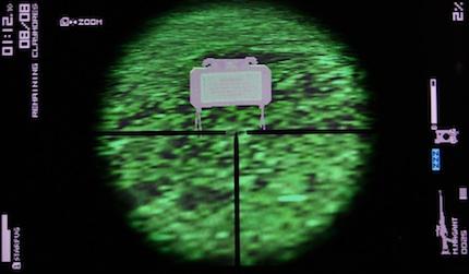 暗視状態のクレイモア地雷の裏