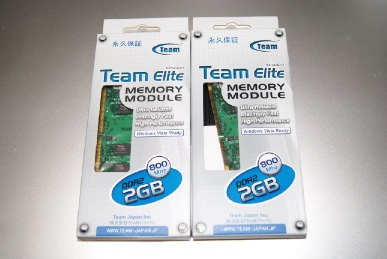 TeamElite PC6400 DDR2 Long-DIMM 800MHz 2GBの箱
