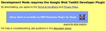 Google Web Toolkit Developer Pluginのインストール画面