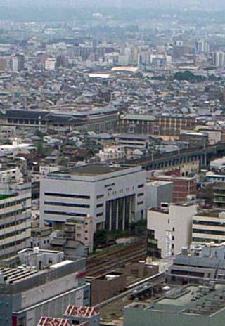 京都駅前校(京都タワーから)