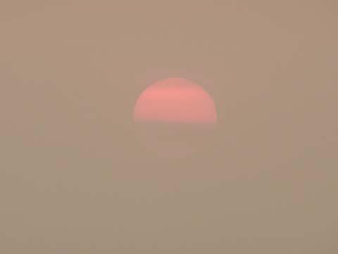 北京の夕日