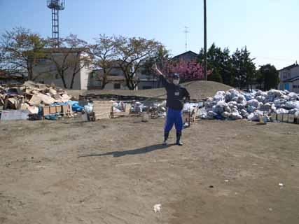 ゴミ集積所整理作業後